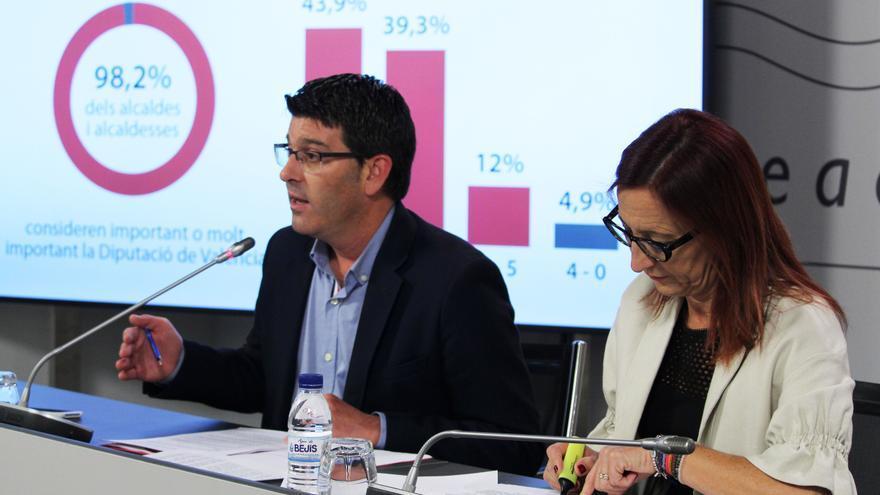 Jorge Rodríguez y Maria Josep Amigó han presentado la encuesta de la Diputació