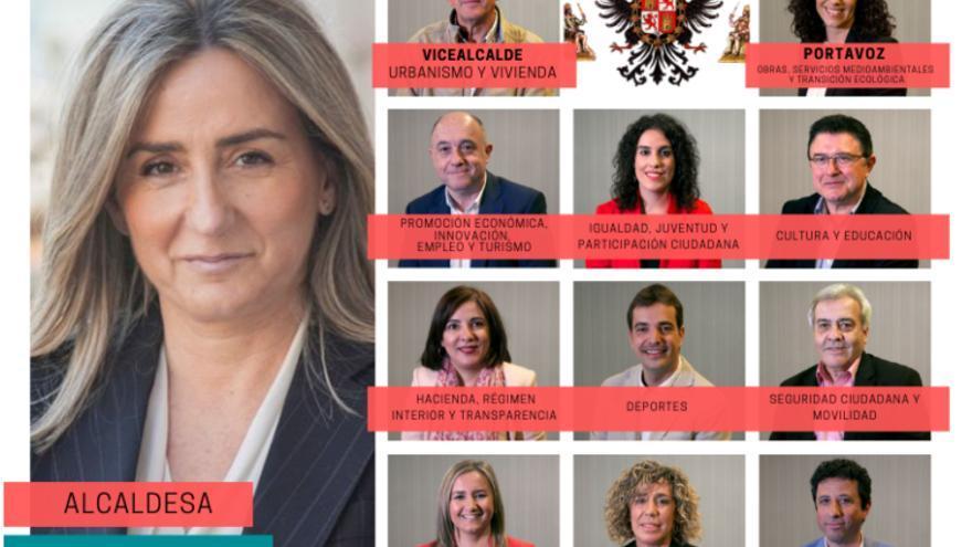 Collage del nuevo equipo de Gobierno de Toledo, elaborado por Bárbara D. Alarcón