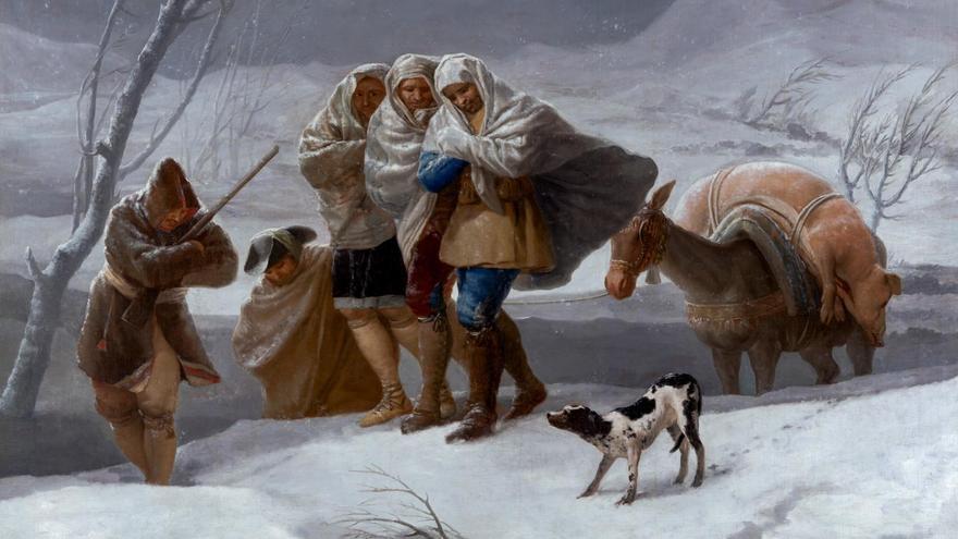 El invierno de Francisco de Goya ©Museo Nacional del Prado
