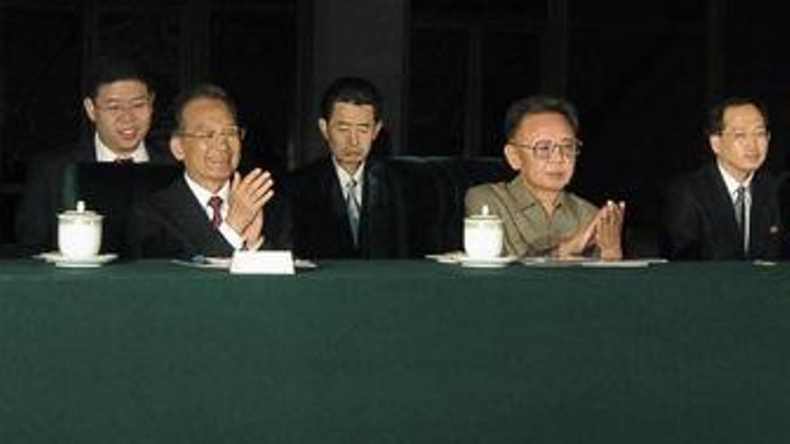 Líder coreano, Kim Jong Il y chino Wen Jiabao