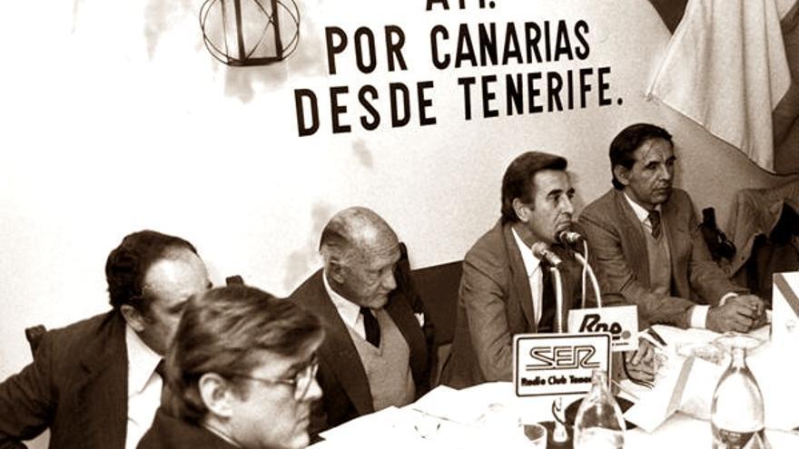 ATI antes de llegar al poder a través de la coalición canaria.