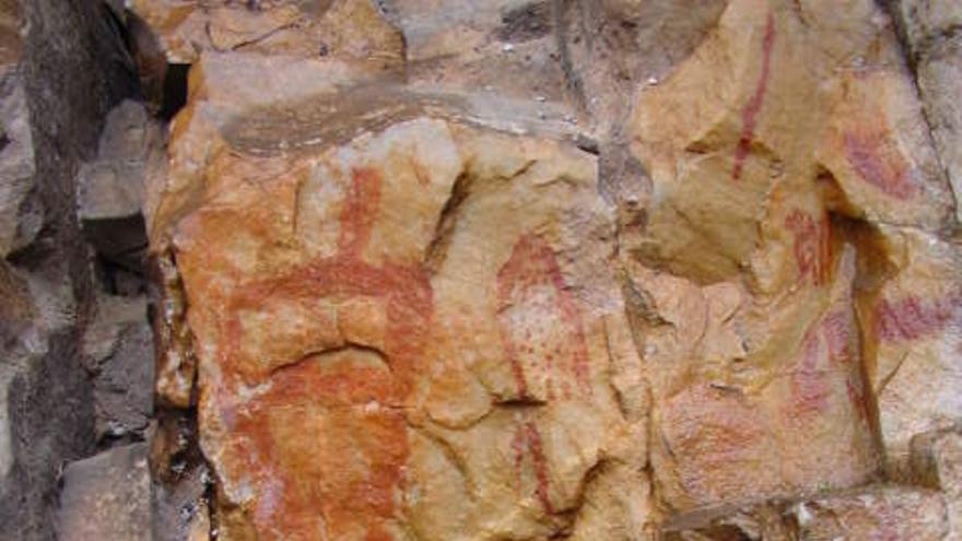 Una de las pinturas rupestre que se estudiarán en los próximos días