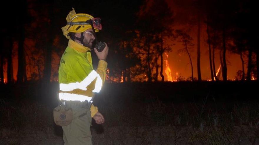 Infoca trabaja en un incendio forestal entre Gerena y El Garrobo (Sevilla)