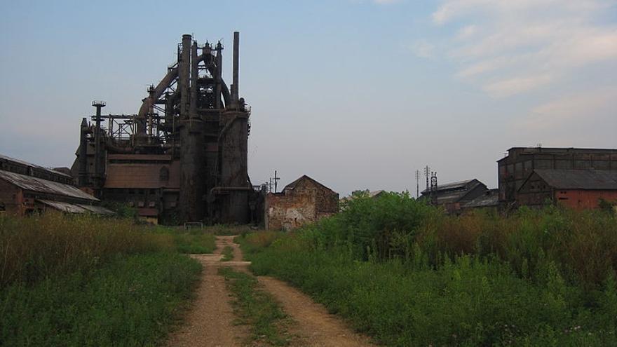 Uno de los hornos abandonados de la compañía Bethlehem Steel