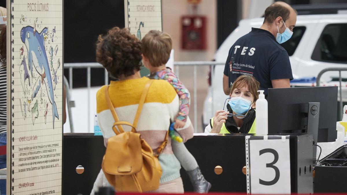 Recinto Ferial de Navarra, en Pamplona, donde el Departamento de Salud del Gobierno de Navarra realiza pruebas PCR de detección del coronavirus