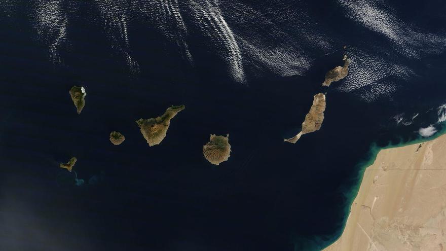 Las Islas Canarias vistas desde el espacio. (La Nasa).