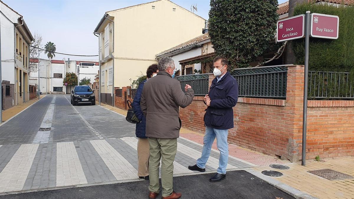 David Dorado visita las obras.