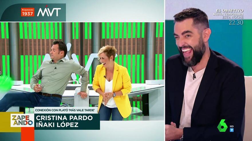 """Descontrol en la conexión de Iñaki López y Cristina Pardo con 'Zapeando': """"Cinco años de carrera para acabar así en TV"""""""