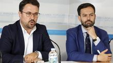 Asier Antona, presidente del PP en Canarias, y Lope Afonso, candidato a la presidencia del Cabildo de Tenerife