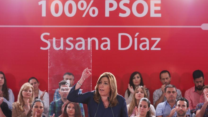 Susana Díaz celebra hoy un acto con militantes del PSOE en Santander