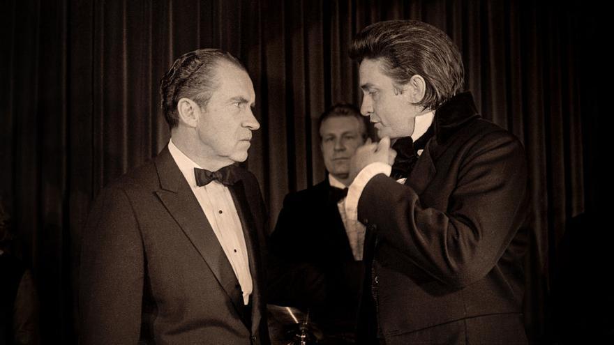 Richard Nixon y Johnny Cash en un fragmento del documental de 'Remastered'