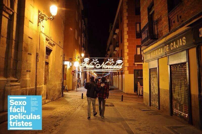 Imagen de la calle Quiñones durante el rodaje de la película