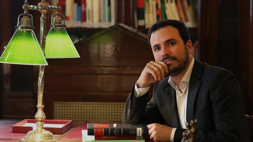 El coordinador federal de IU, Alberto Garzón, en el Congreso.