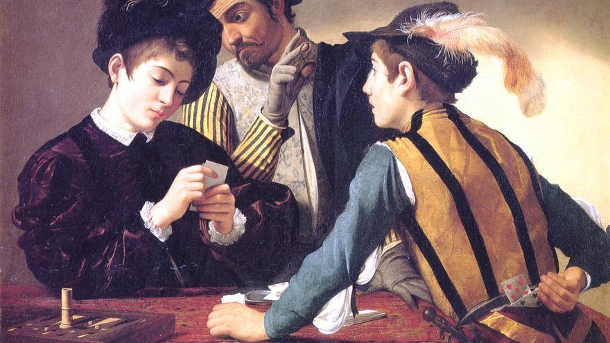 Caravaggio. Tahúres, 1594.