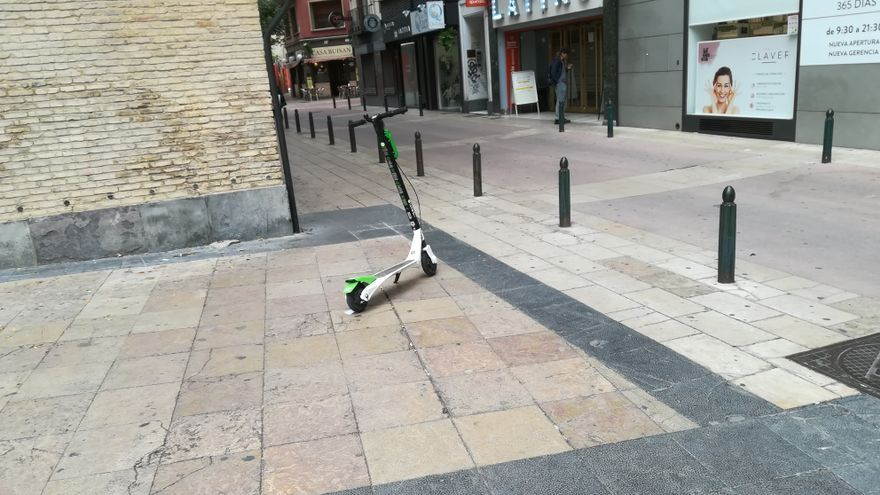En la actualidad hay unos mil patinetes en las calles de Zaragoza