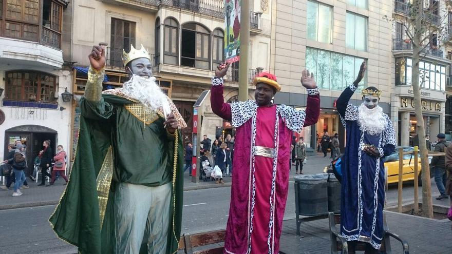 """Els """"Reis Manters"""" a les Rambles de Barcelona"""