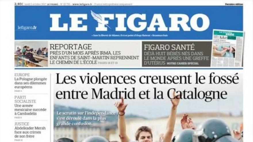 Portada de Le Figaro de este 2 de octubre de 2017.