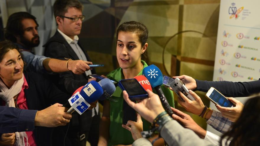 Carolina Marín apoya la campaña #Huelvaessolidaria para que ningún niño se quede sin juguete