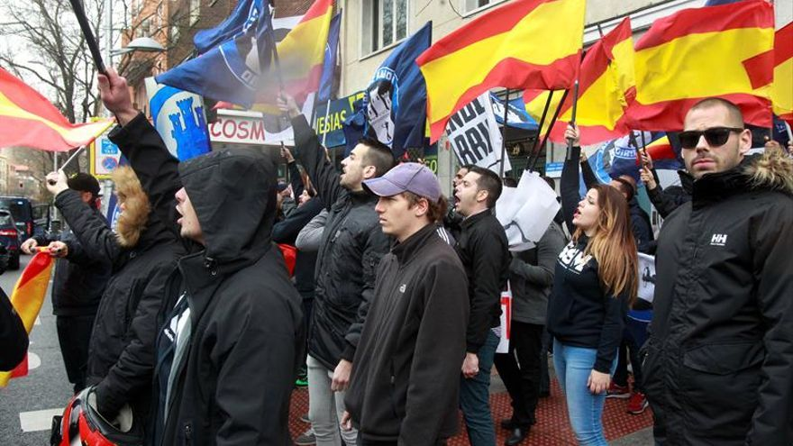 La Policía no ve delito en la manifestación neonazi del 21 de mayo en Madrid