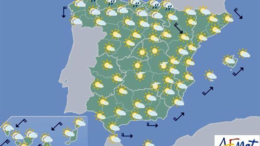Hoy, tormentas en los Pirineos y temperaturas muy altas en el Mediterráneo