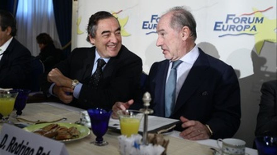 Presidente De Bankia, Rodrigo Rato Y Presidente De La CEOE, Joan Rosell