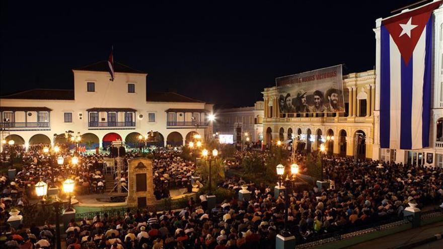 Raúl Castro encabezó acto por el 55 aniversario de la revolución cubana