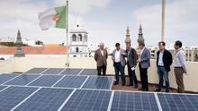 Fernando Clavijo en un proyecto de energías alternativas en Fuerteventura.