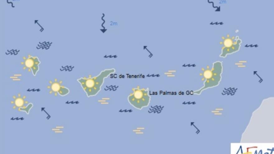 Mapa de la previsión meteorológica para el sábado 31 de diciembre