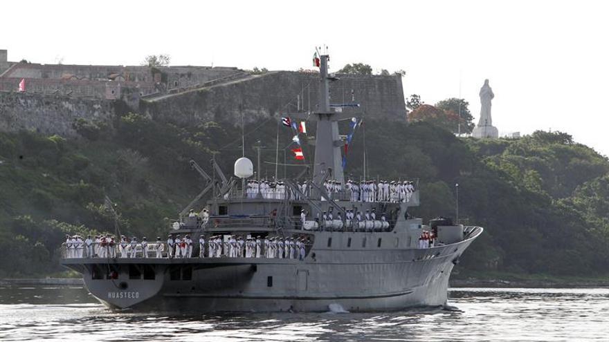 El buque Huasteco de la Armada mexicana llega a La Habana en un viaje de prácticas