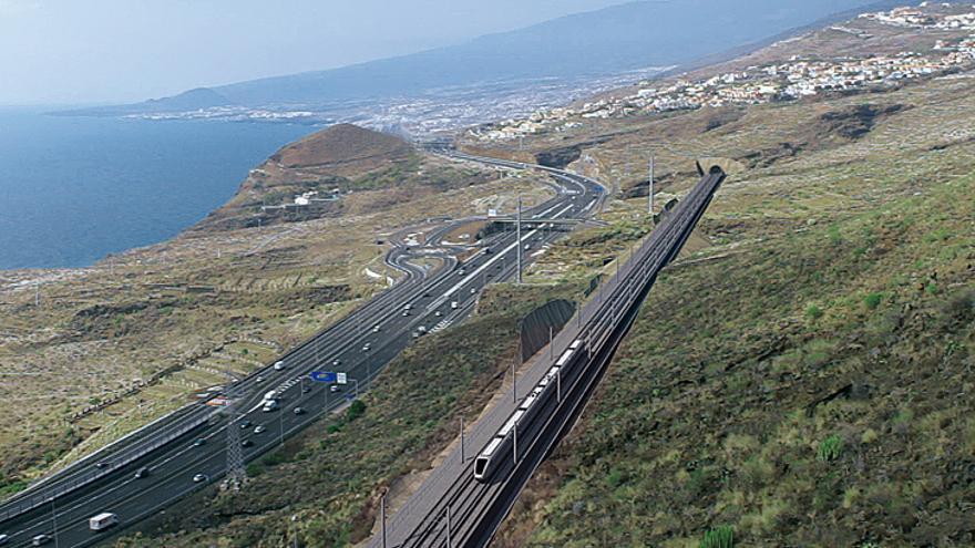 Simulación del proyecto del tren al Sur de Tenerife