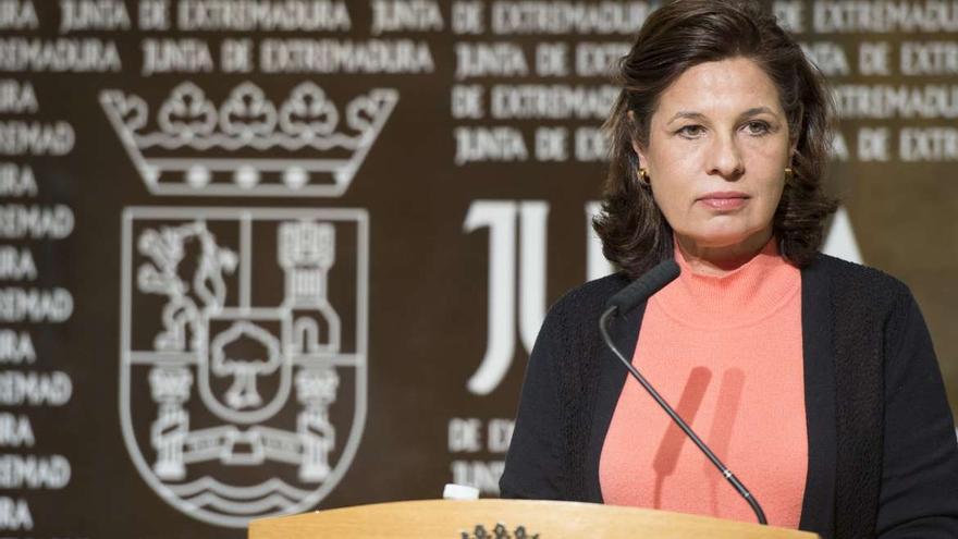 Pilar Blanco-Morales, consejera de Hacienda y Administración Pública, explicando el resultado de la quinta ronda negociadora