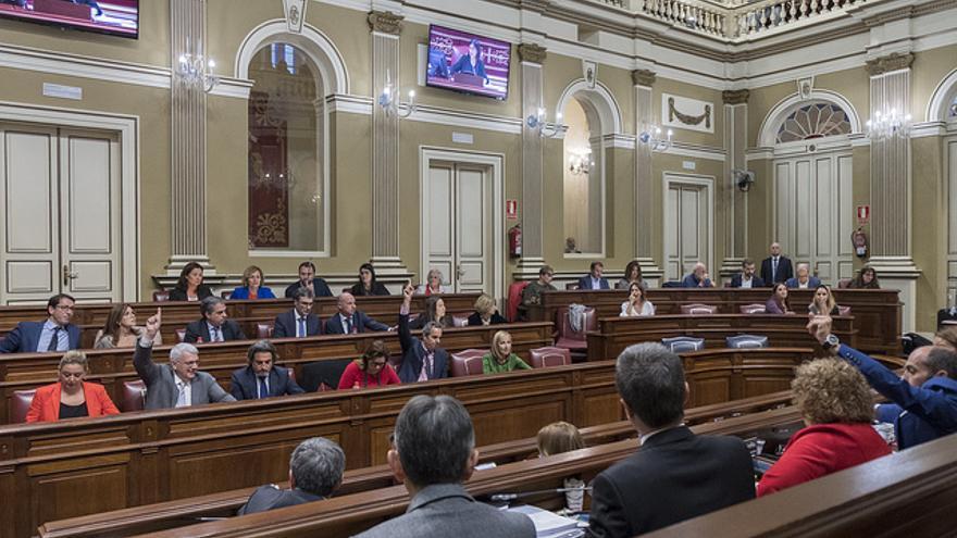 Parlamento de Canarias durante un pleno