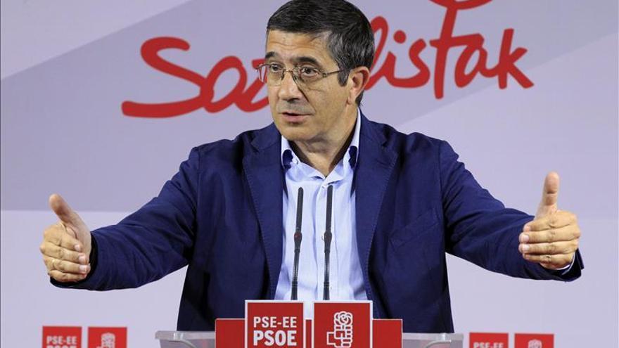 Patxi López pide al PNV no seguir el camino de Cataluña y apoyar el consenso