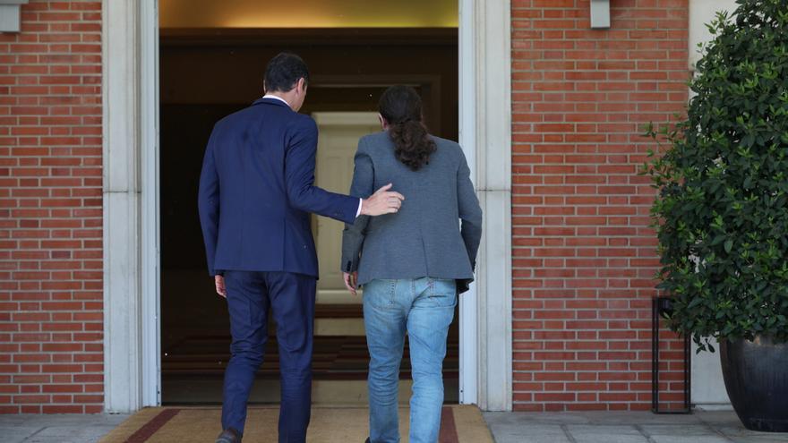 Termina la reunión entre Sánchez e Iglesias tras más de dos horas de conversación