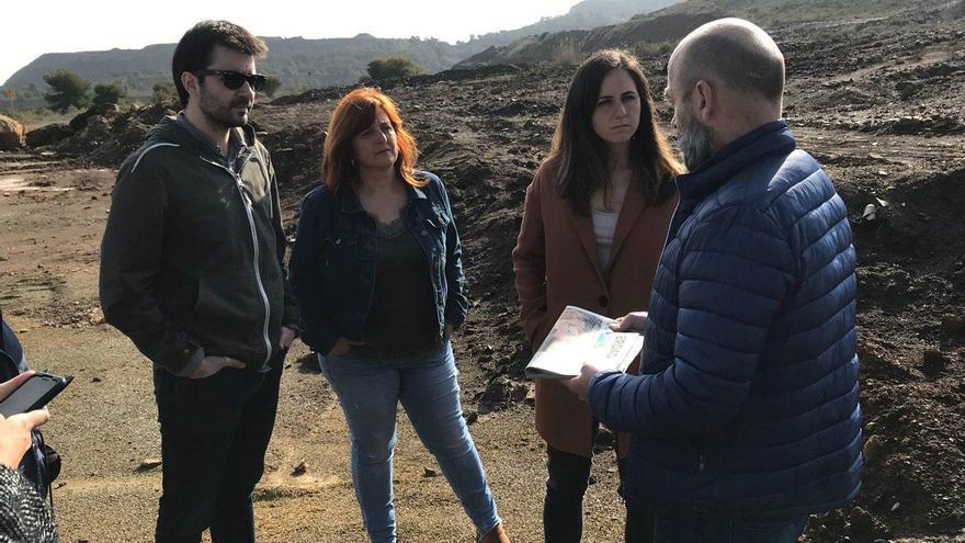Javier Sánchez Serna, Pilar Marcos e Ione Belarra de Unidas Podemos