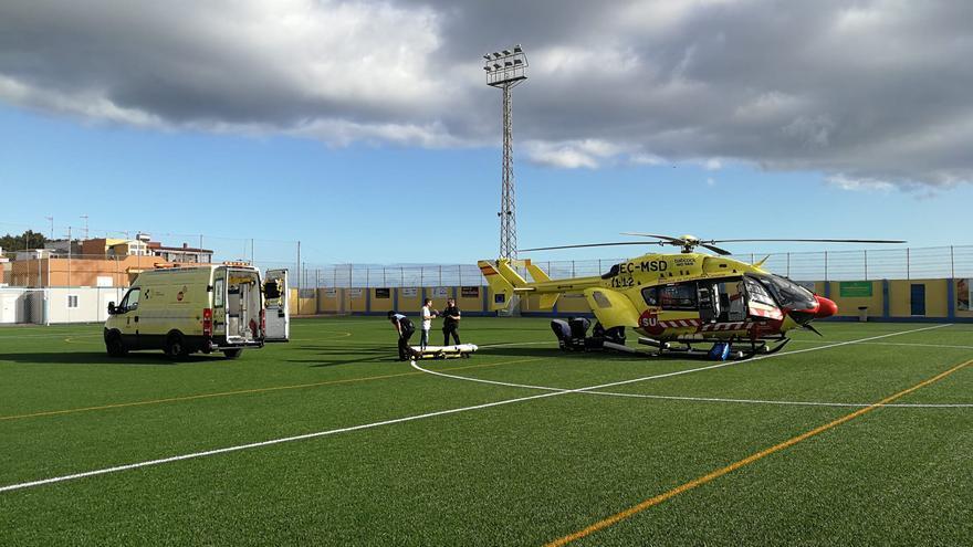 Helicóptero medicalizado con el que se trasladó a la afectada