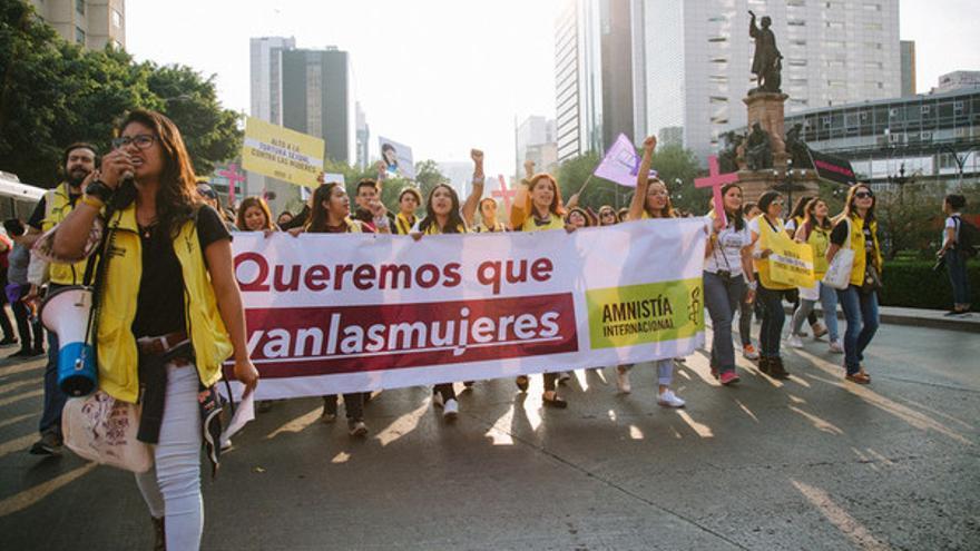Manifestación el 8 de marzo en México // Itzel Plascencia López / Amnistía Internacional México