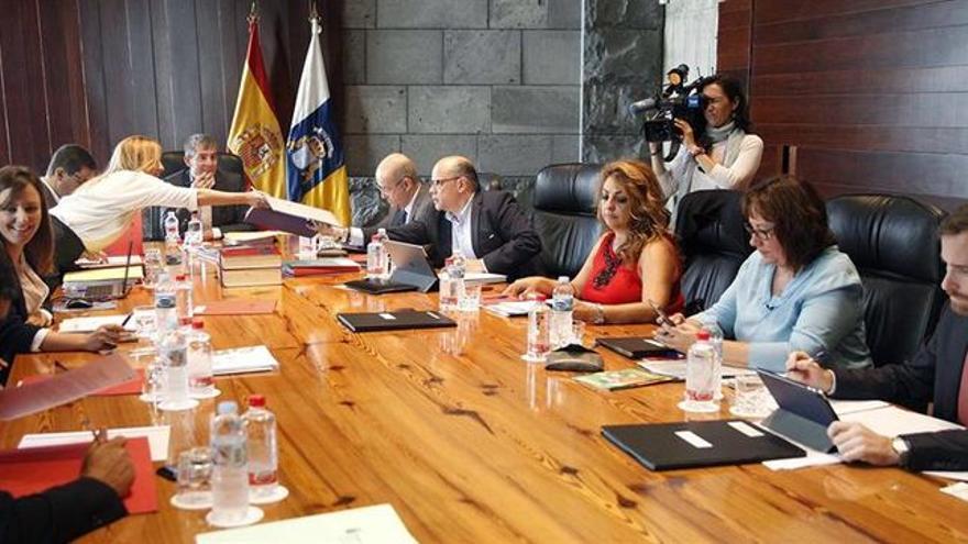 Consejo de Gobierno presidido por Fernando Clavijo.
