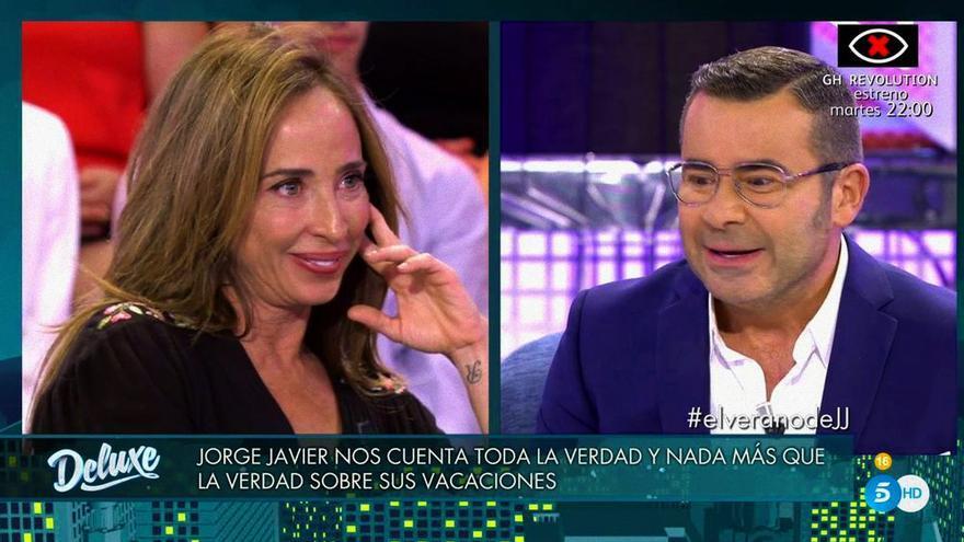 María Patiño y Jorge Javier Vázquez en el Deluxe