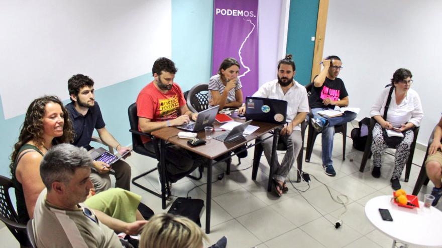 Sesión de constitución del Consejo Ciudadano Valenciano de Podemos.