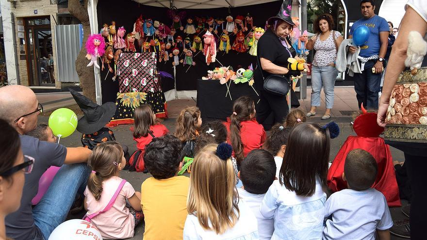 Una de las actividades organizadas este domingo para los más pequeños