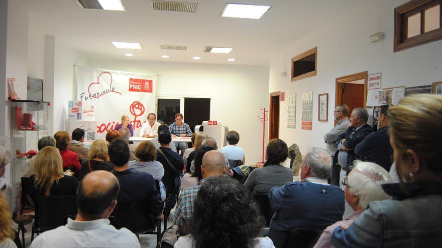 La asamblea del PSOE de Fuengirola, durante la reunión del martes por la noche