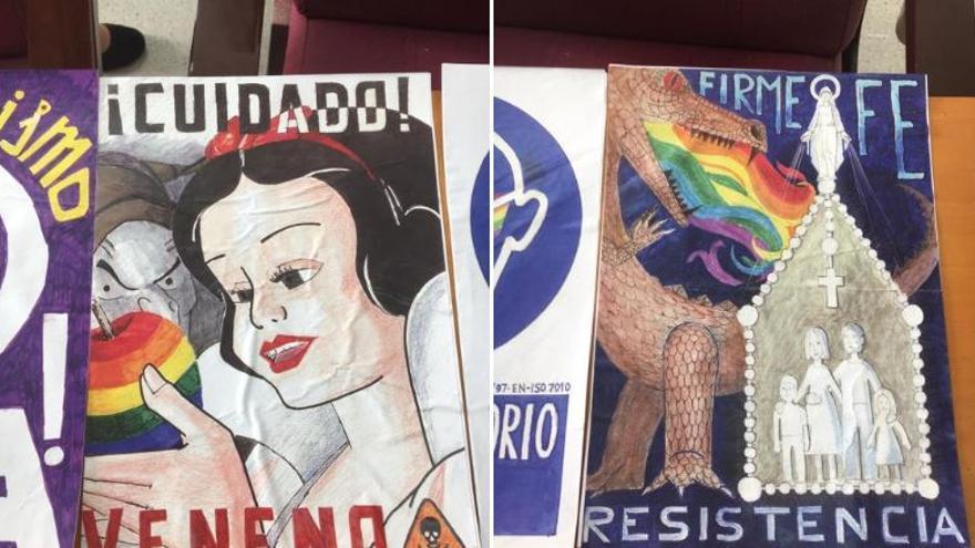 Los carteles homófobos que han aparecido en Alicante
