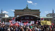 Manifestación de sindicatos en Alemania.