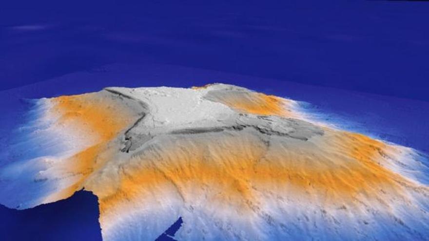 Infografía de la montaña submarina Tropic
