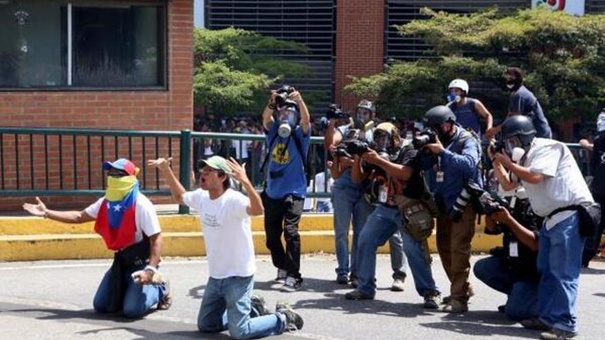 Prensa opositores Venezuela