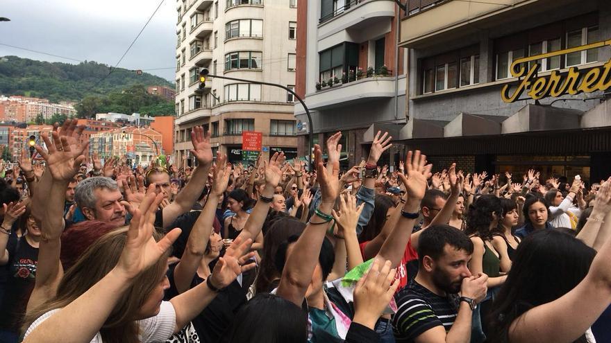 Concentración por la puesta en libertad de la manada en Bilbao