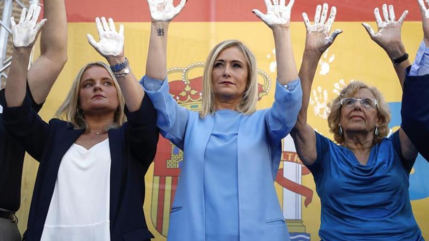 Abucheos a Manuela Carmena en el homenaje del PP a Miguel Ángel Blanco