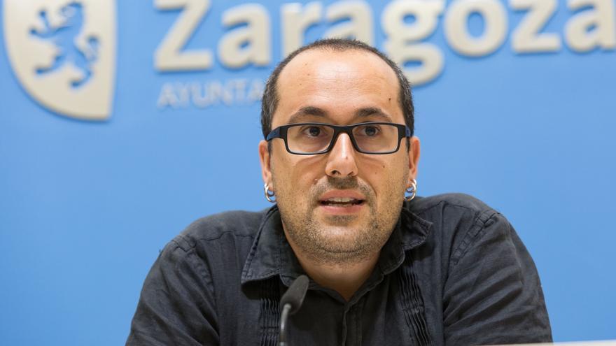 El concejal de Zaragoza en Común Alberto Cubero en una imagen de archivo
