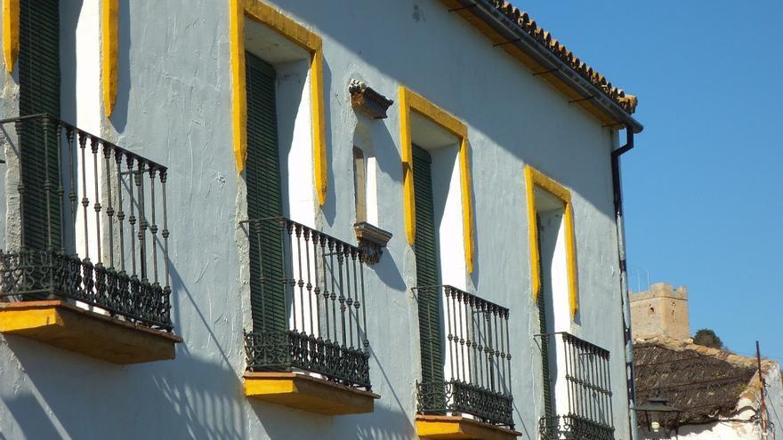 Fachada de la casa grande de El Vínculo.